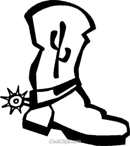 cowboy boot Royalty Free Vector Clip Art illustration vc027364