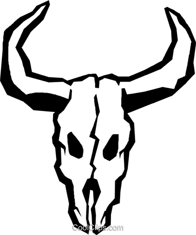 cow skulls Royalty Free Vector Clip Art illustration vc027366