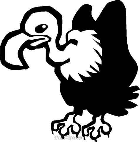 vulture Royalty Free Vector Clip Art illustration vc027368