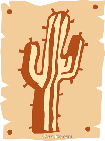 cactus Royalty Free Vector Clip Art illustration vc027373