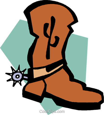 cowboy boot Royalty Free Vector Clip Art illustration vc027378