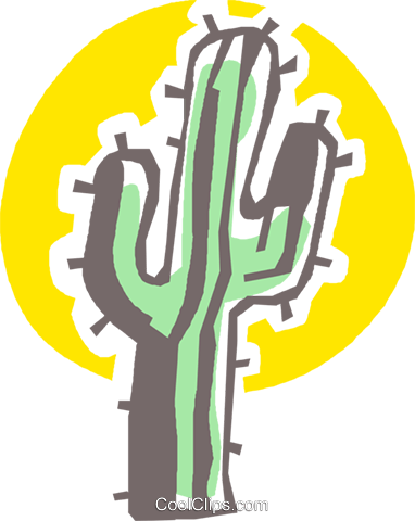 cactus Royalty Free Vector Clip Art illustration vc027381