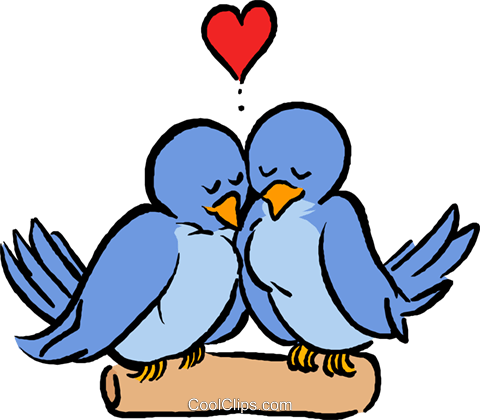 Love birds Royalty Free Vector Clip Art illustration vc027386
