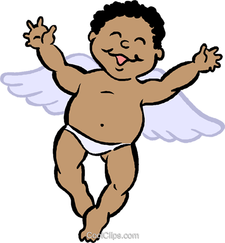 cupid Royalty Free Vector Clip Art illustration vc027398