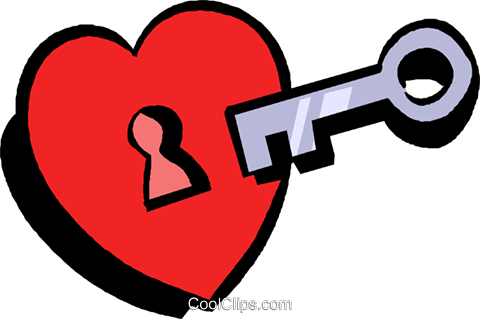 key to my heart Royalty Free Vector Clip Art illustration vc027404