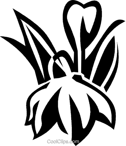 satin flower Royalty Free Vector Clip Art illustration vc027561