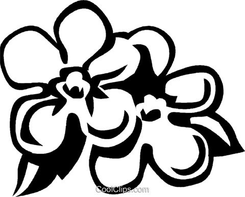 forget-me-nots Royalty Free Vector Clip Art illustration vc027568