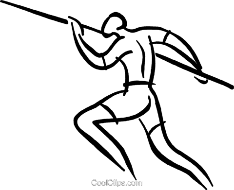 pole vault Royalty Free Vector Clip Art illustration vc027590
