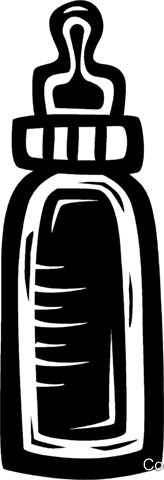 baby bottle Royalty Free Vector Clip Art illustration vc027591