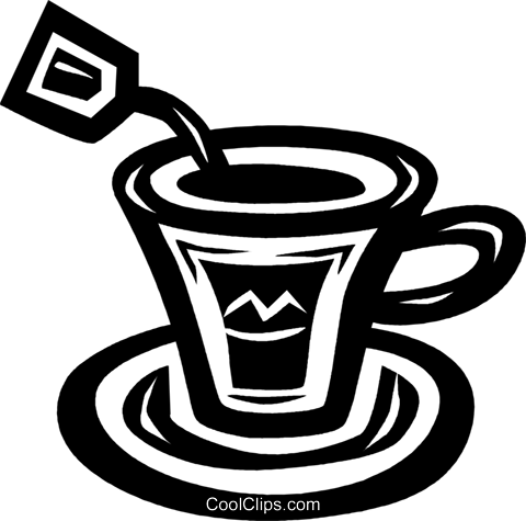 teacup Royalty Free Vector Clip Art illustration vc027596