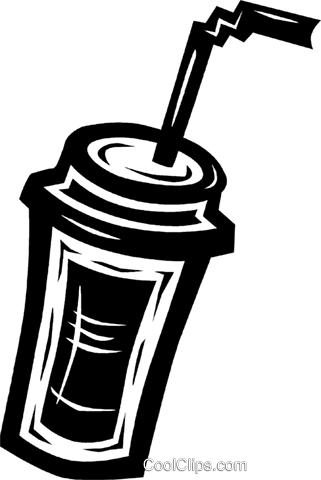 soda drink with a straw Royalty Free Vector Clip Art illustration vc027620