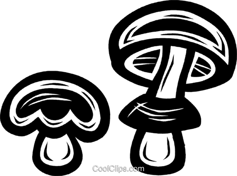mushrooms Royalty Free Vector Clip Art illustration vc027624