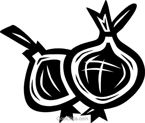 onions Royalty Free Vector Clip Art illustration vc027627