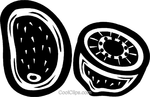 kiwis Royalty Free Vector Clip Art illustration vc027642
