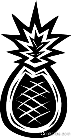 pineapple Royalty Free Vector Clip Art illustration vc027652