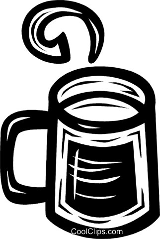 cup of coffee Royalty Free Vector Clip Art illustration vc027654