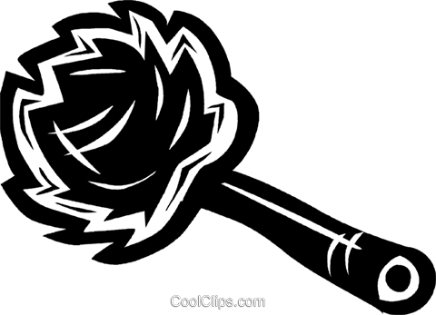 feather duster Royalty Free Vector Clip Art illustration vc027660