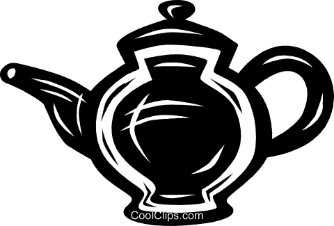 teapot Royalty Free Vector Clip Art illustration vc027670