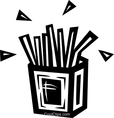 French fries Royalty Free Vector Clip Art illustration vc027675