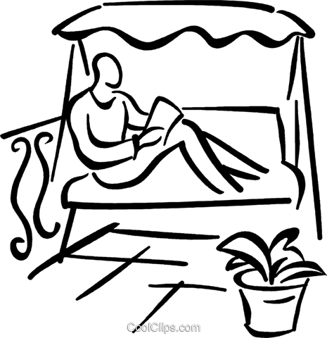 person reading a book Royalty Free Vector Clip Art illustration vc027696