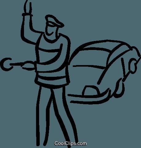 Polizisten den Verkehr regeln Vektor Clipart Bild ...