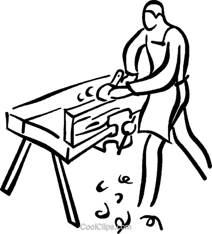 carpenter Royalty Free Vector Clip Art illustration vc027706