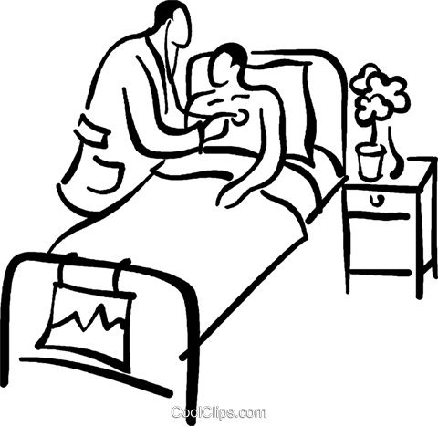 doctor with a patient Royalty Free Vector Clip Art illustration vc027715