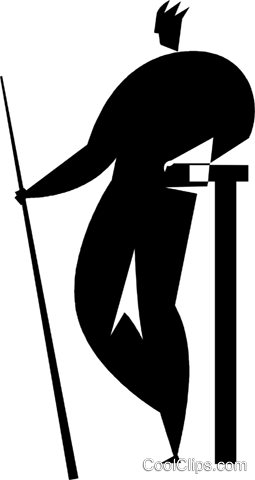 pool player Royalty Free Vector Clip Art illustration vc027717
