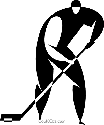 hockey player Royalty Free Vector Clip Art illustration vc027722