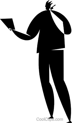 person on a cellular phone Royalty Free Vector Clip Art illustration vc027727