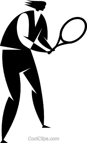 tennis player Royalty Free Vector Clip Art illustration vc027733