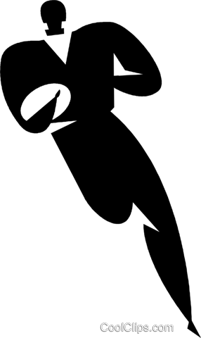 rugby player Royalty Free Vector Clip Art illustration vc027749