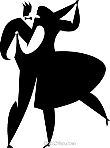 ballroom dancers Royalty Free Vector Clip Art illustration vc027776