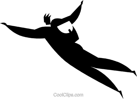 sky diving Royalty Free Vector Clip Art illustration vc027777