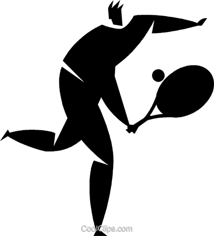 tennis player Royalty Free Vector Clip Art illustration vc027809
