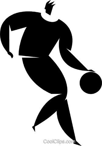 basketball player Royalty Free Vector Clip Art illustration vc027817