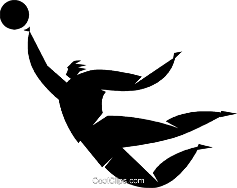 soccer player Royalty Free Vector Clip Art illustration vc027825