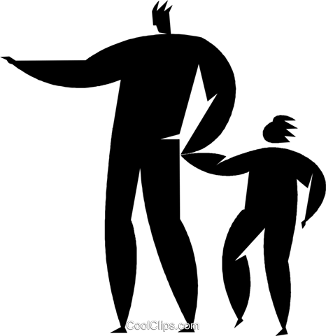 parent with a child Royalty Free Vector Clip Art illustration vc027828