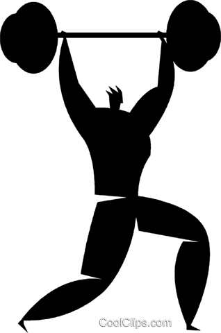 weightlifters Royalty Free Vector Clip Art illustration vc027831