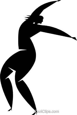 dancer Royalty Free Vector Clip Art illustration vc027833