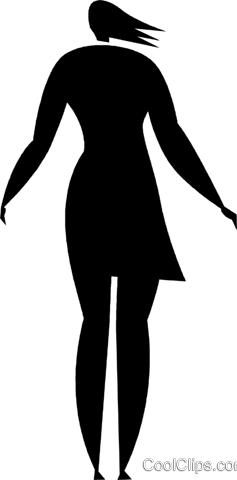 businesswoman Royalty Free Vector Clip Art illustration vc027834
