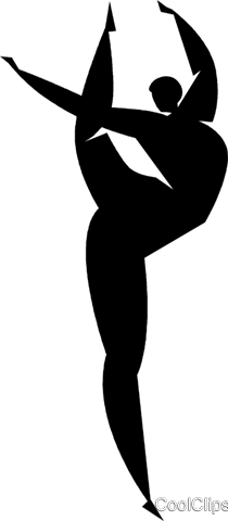 gymnast Royalty Free Vector Clip Art illustration vc027851