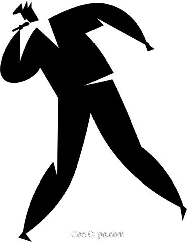 man singing Royalty Free Vector Clip Art illustration vc027856