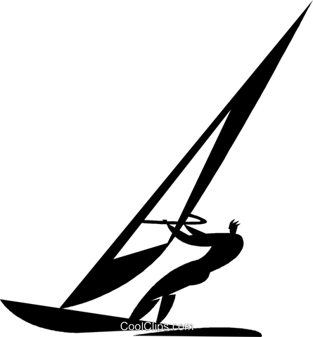 Windsurfing Royalty Free Vector Clip Art Illustration Vc027861
