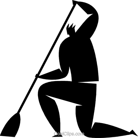 person sweeping Royalty Free Vector Clip Art illustration vc027869