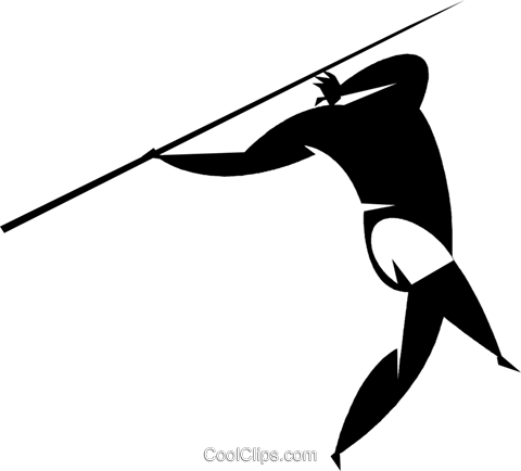 pole vaulter Royalty Free Vector Clip Art illustration vc027873