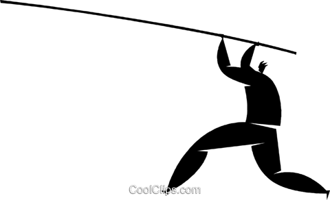 pole vaulter Royalty Free Vector Clip Art illustration vc027876