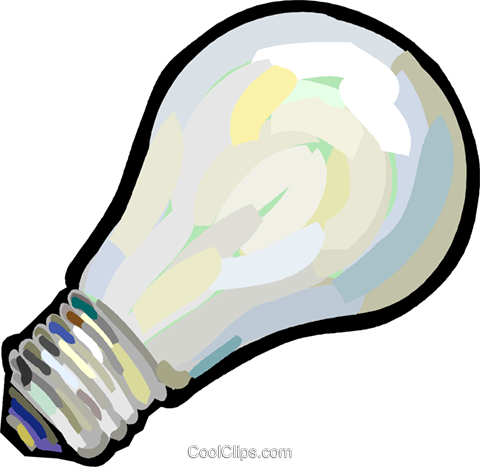 light bulb Royalty Free Vector Clip Art illustration vc027878