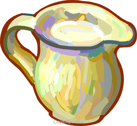 water pitcher Royalty Free Vector Clip Art illustration vc027879