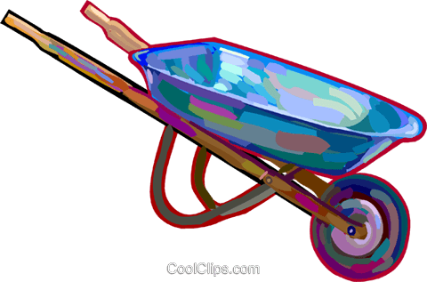 Wheelbarrow Royalty Free Vector Clip Art illustration vc027882